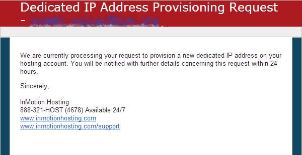 Request submitted Add IP address AMP