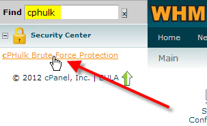 click on cphulk brute force protection