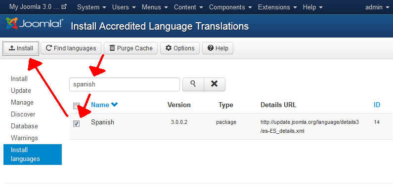 install-new-language-pack