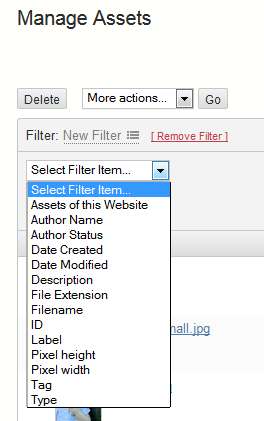 Filter by table definitions for item