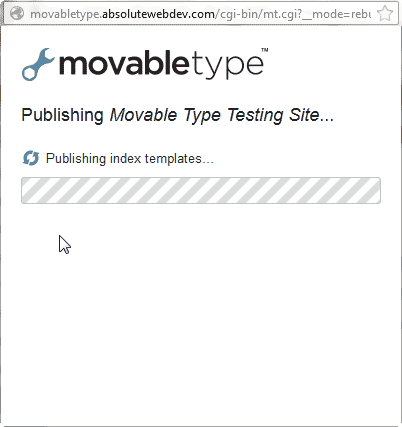 Publishing status Movable Type