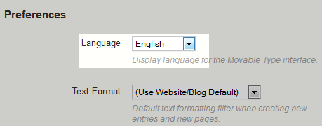 select language from dropdown