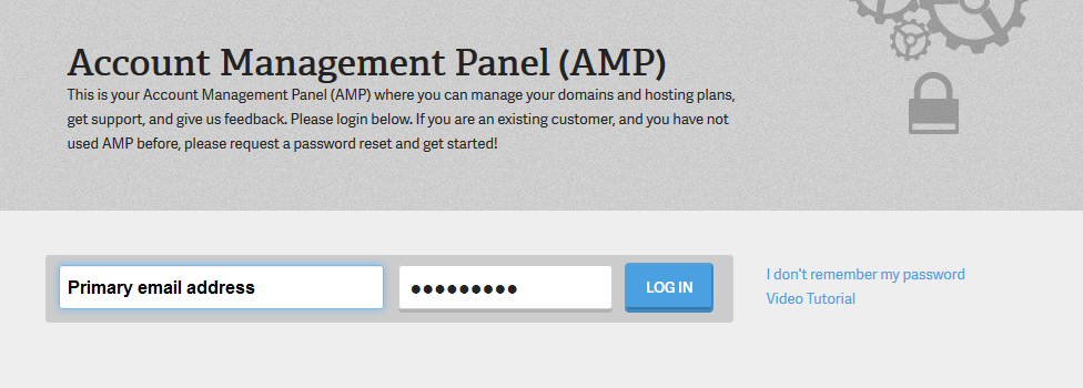 Click on the AMP login