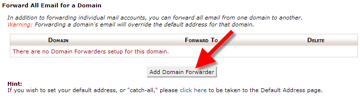 forwarding domain in cpanel