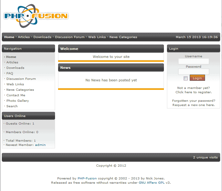 View the new PHP-Fusion site