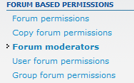 click on forum moderators