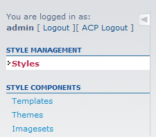 click on styles option