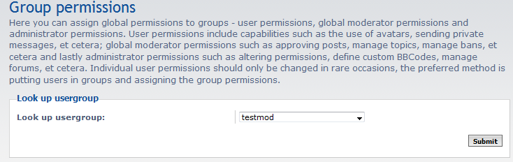 select group to add permissions to