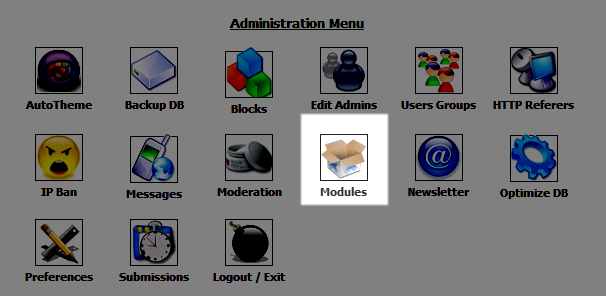 Icon for Modules in PHP-Nuke Admin