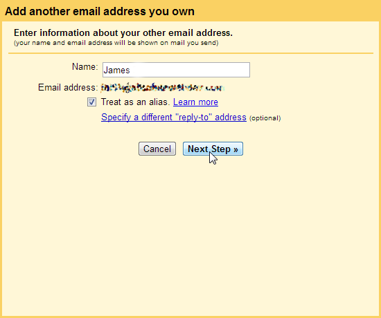 Enter your name POP3 SMTP Gmail