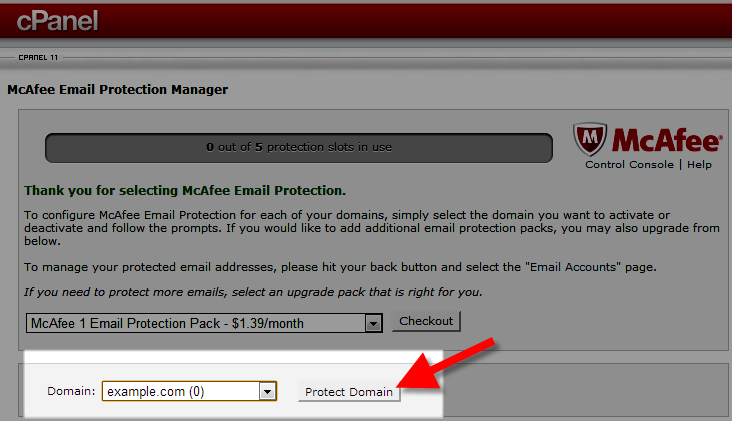 protecting the domain in cPanel