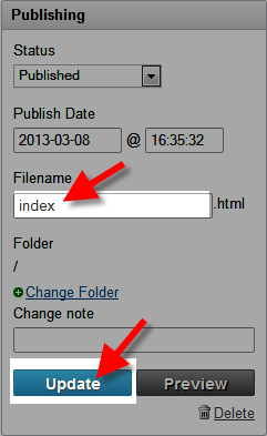 saving index.html filename in movable type