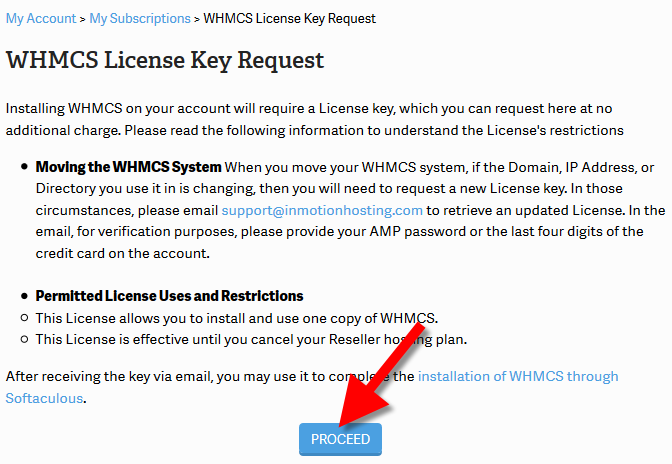 requesting whmcs license