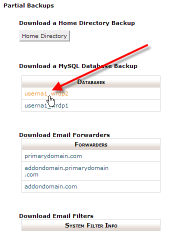 cpanel-click-on-userna1-wrdp2-database