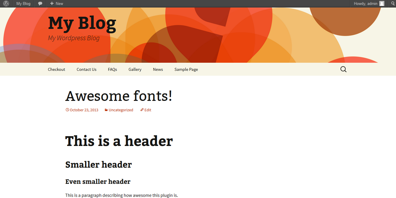 configuring wordpress google fonts plugin step 3